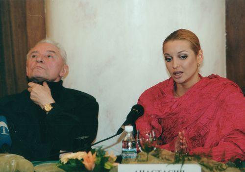 Анастасия Волочкова за кулисами