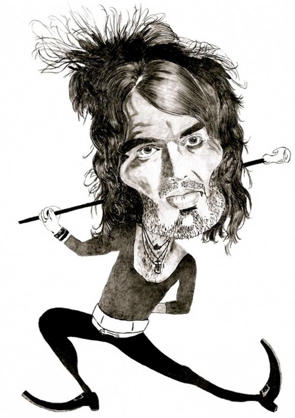 Карикатуры на Рассела Брэнда