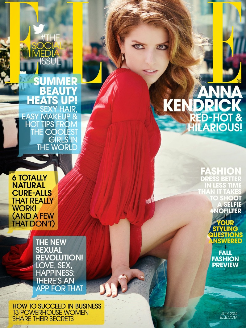 Анна Кендрик в фотосессии Картера Смита для ELLE Magazine US, июль 2014