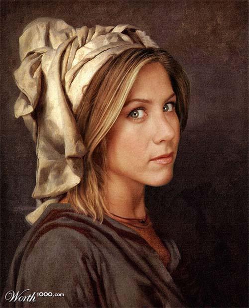 Дженнифер Энистон в искусстве