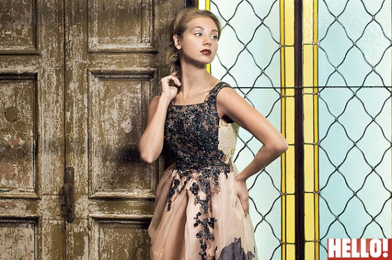Кристина Асмус в платьях из коллекции итальянского дизайнера Антонио Марраса в фотосессии для российского журнала Hello!