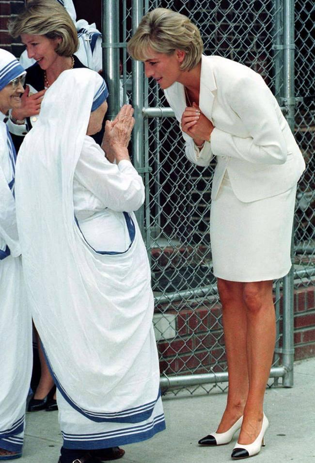 Мать Тереза и Принцесса Диана в Нью-Йорке, июнь 1997 года