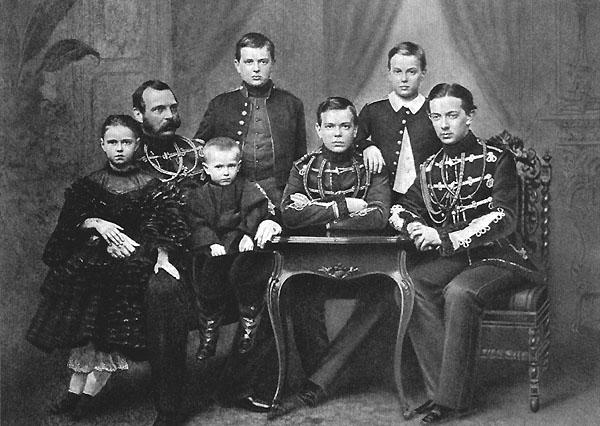 Император Александр II с детьми, 1860 г.