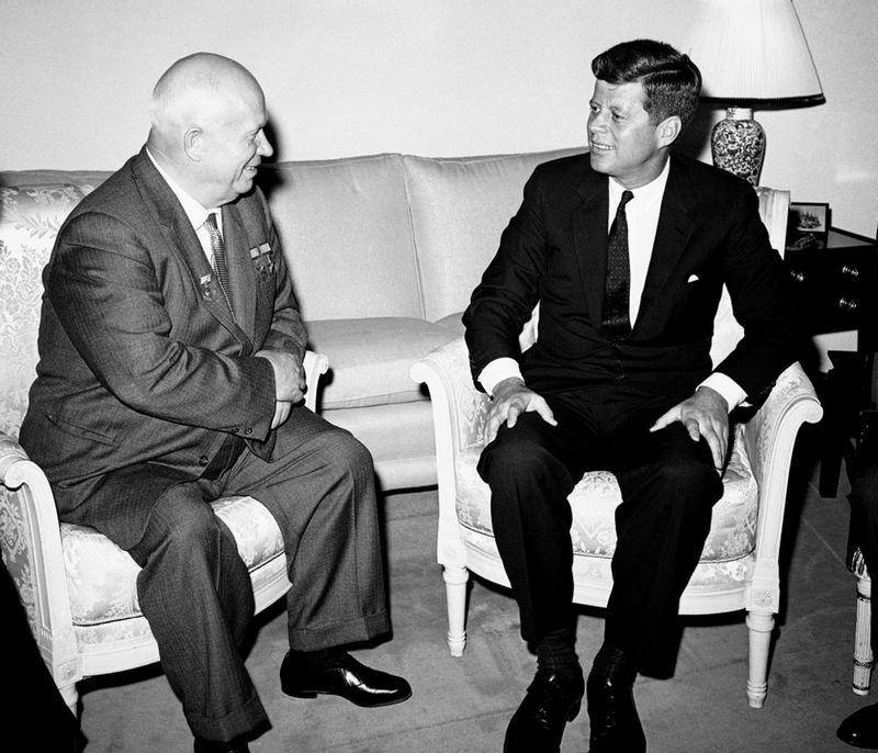 Никита Хрущев и Джон Кеннеди, 1961 год