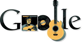 Владимир Высоцкий на праздничном логотипе Google