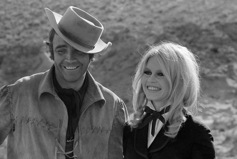 "Шон Коннери и Бриджит Бардо на съемках фильма ""Шалако"", 1967 год"