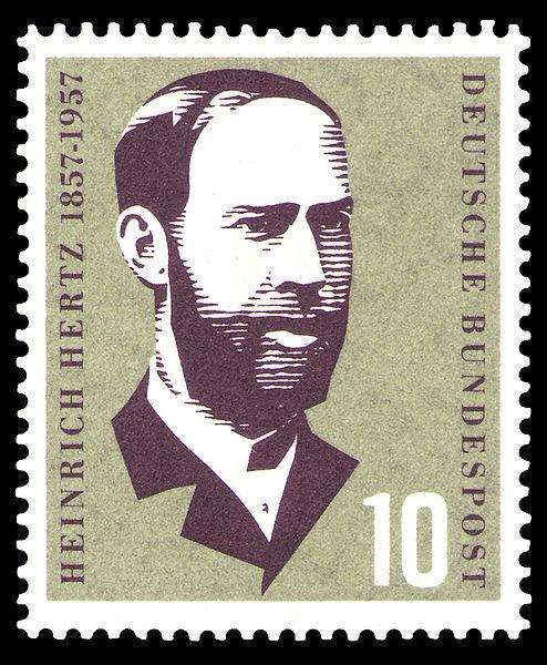 Генрих Герц в филателии