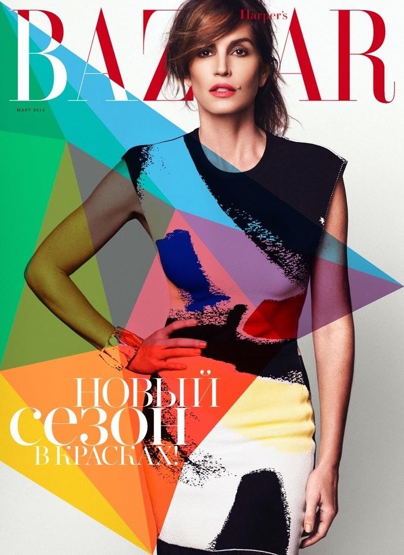 Синди Кроуфорд для Harper's Bazaar Ru, март 2014