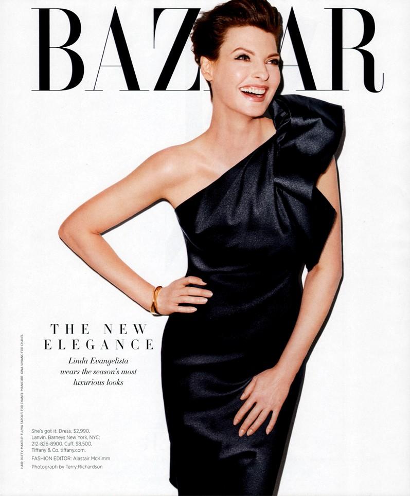 Линда Евангелиста для журнала Harper's Bazaar USA, октябрь 2013