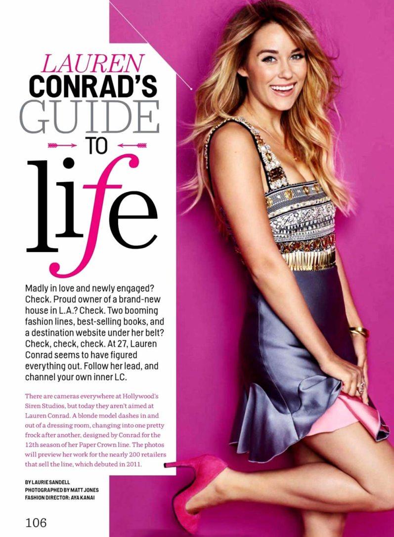 Лорен Кэтрин Конрад в американском выпуске Cosmopolitan, январь 2014