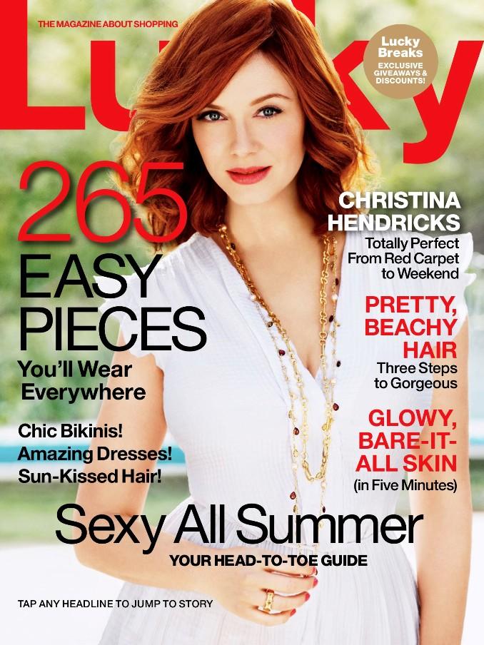 Кристина Хендрикс для летнего Lucky Magazine (Июнь\Июль 2013)