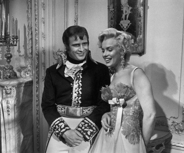 Мэрилин Монро и Марлон Брандо, 1954 год