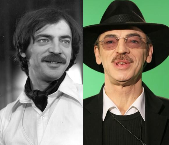 Михаил Боярский в 1981 году и 2009 году