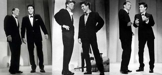 Фрэнк Синатра и Элвис Пресли, 1960 год