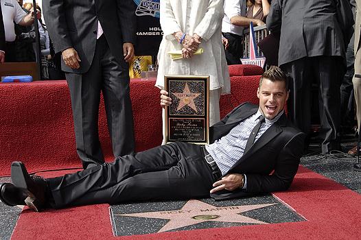 Рики Мартин получил звезду на Аллее Славы в Голливуде