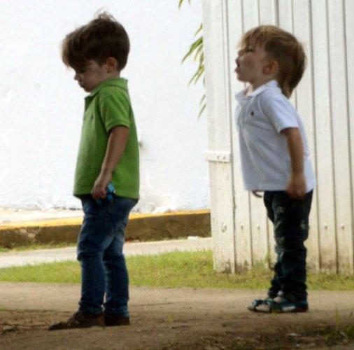 Рики Мартин и его сыновья-близнецы