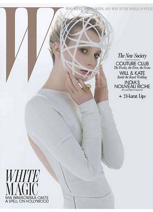 Миа Васиковска на обложках журналов