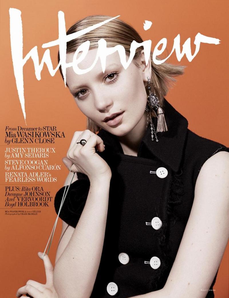 Миа Васиковска для Interview, август 2014