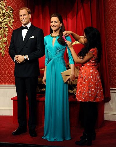 Восковые фигуры принца Уильяма и герцогини Кэтрин в лондонском Музее мадам Тюссо