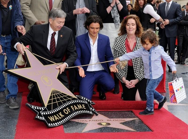 Звезда Орландо Блума на Аллее славы в Голливуде