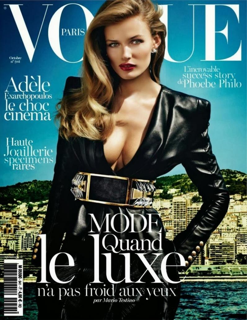 Эдита Вилкевичуте и Аня Рубик в фотосессии Марио Тестино для Vogue Paris, октябрь 2013