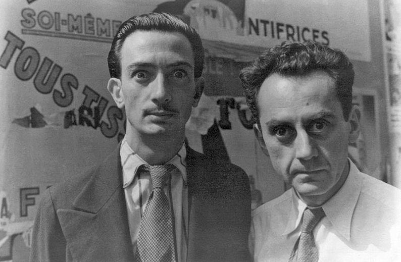 Сальвадор Дали и Ман Рэй в Париже, 1934 год