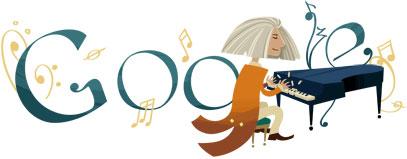 Логотипы Google к Дню Рождения известных людей в 2011 году