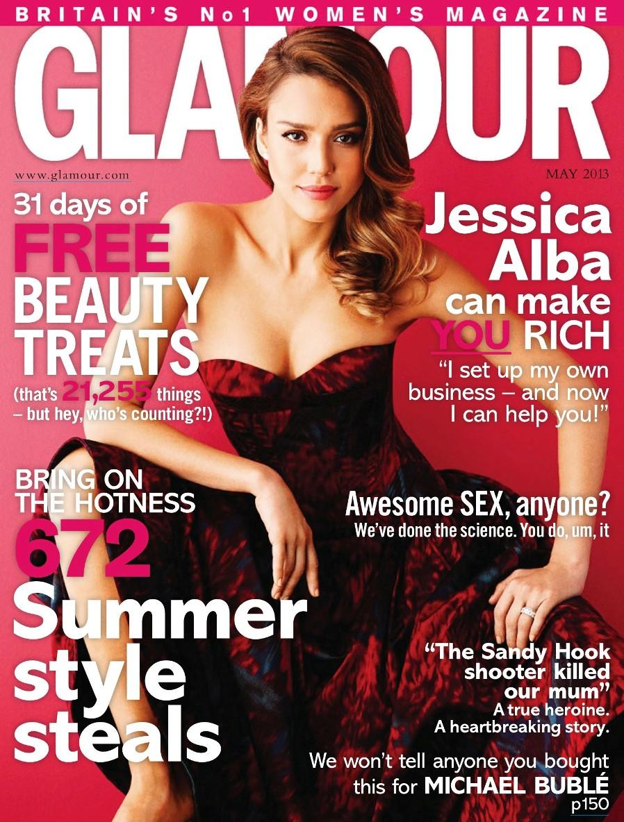Джессика Альба, Скарлетт Йоханссон для журнала Glamour UK Май 2013