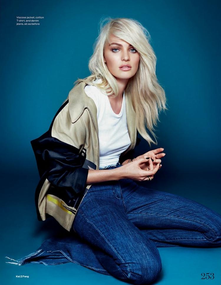 Кэндис Свейнпол для Elle UK, декабрь 2013