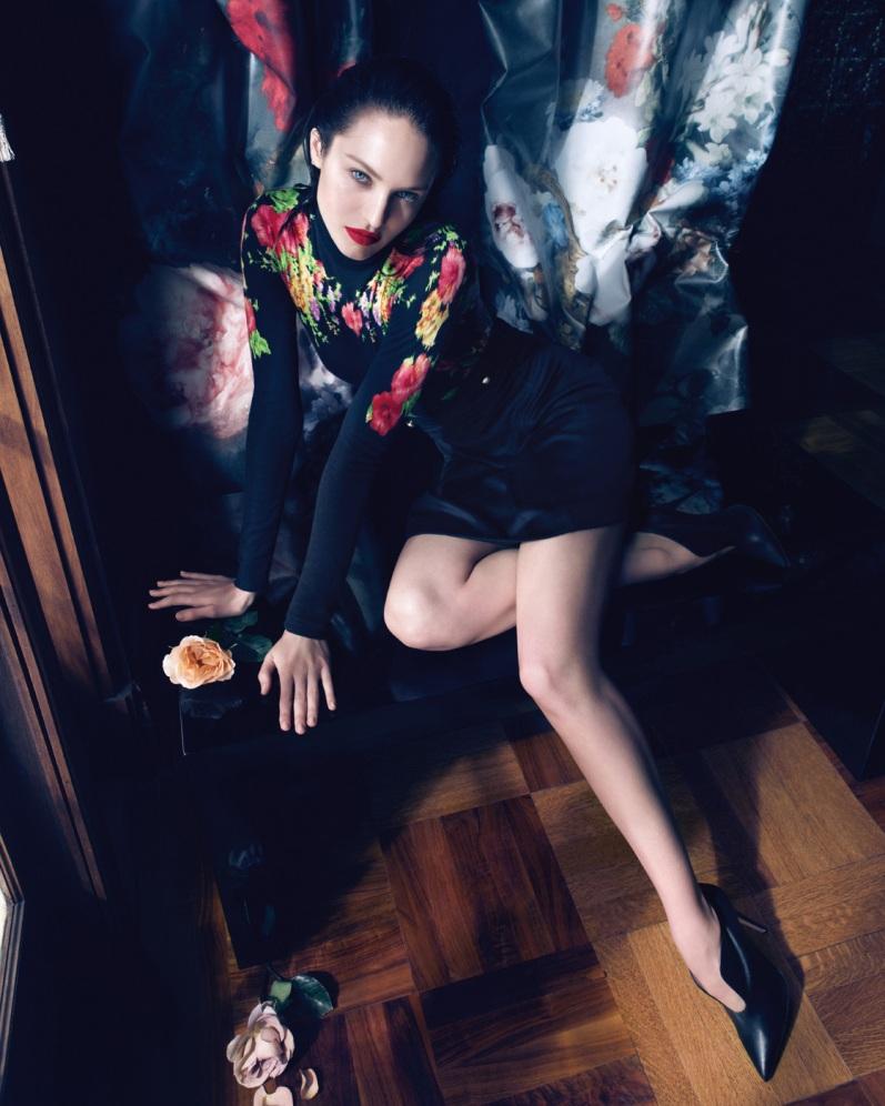 Кэндис Свейнпол в рекламной кампании BLUMARINE F\W 13.14