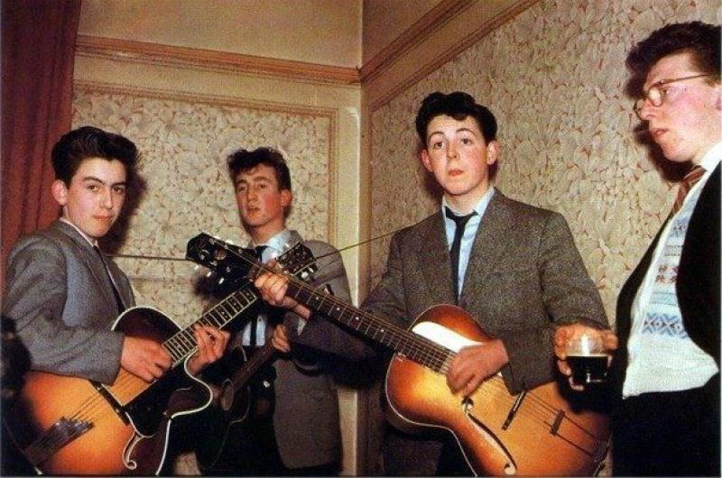Легендарные The Beatles в 1957 году