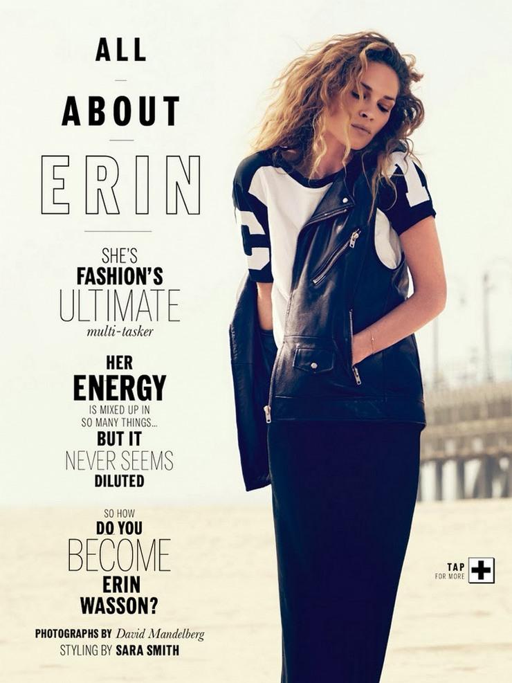 Эрин Уоссон для Elle Australia, декабрь 2013