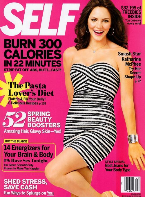 Кэтрин Макфи на обложках журналов