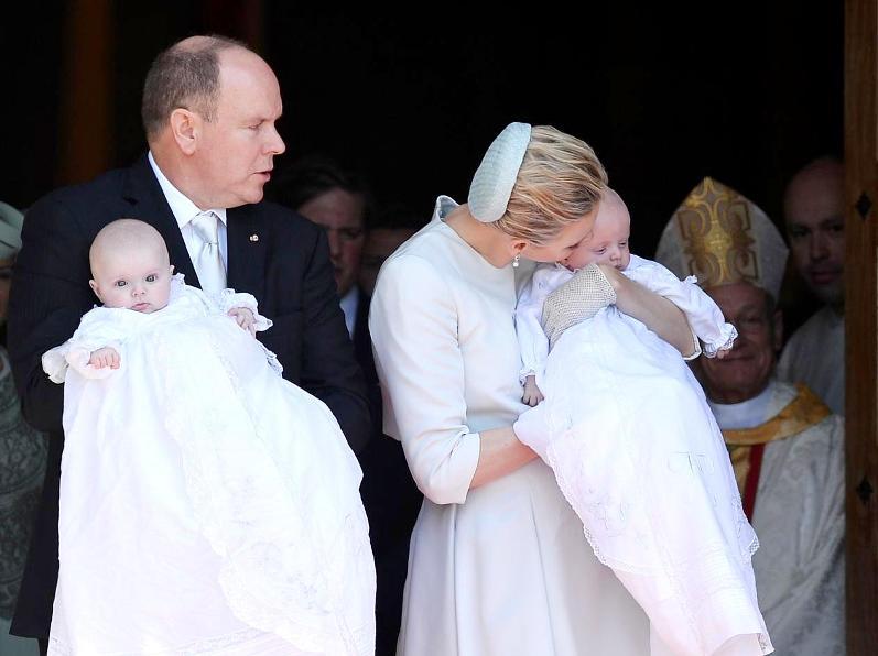 Крестины детей князя Альберта II и княгини Шарлен