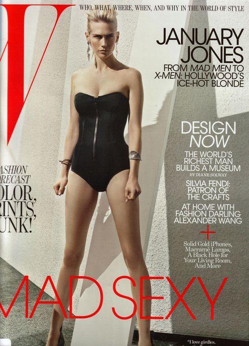 Дженьюари Джонс на обложках журналов