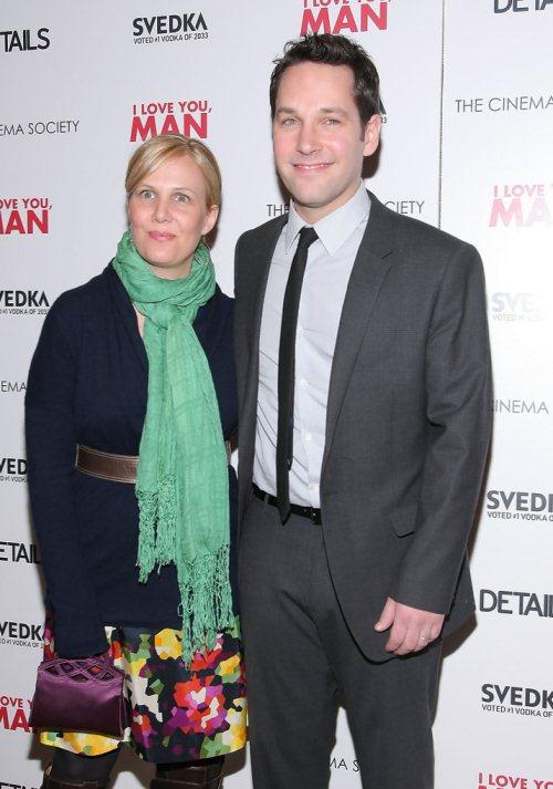 Пол Радд и его жена Джуди Ягер