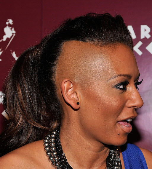 mel b half shaved hairstyle short hairstyle 2013