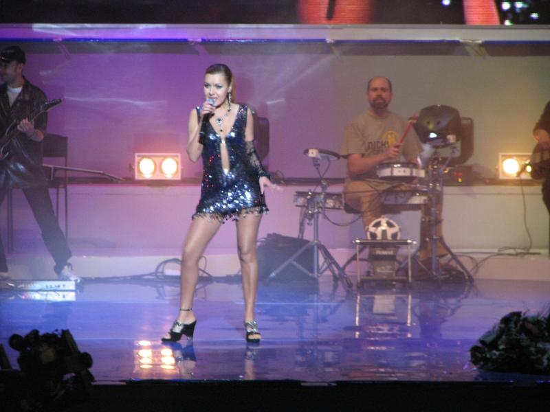 Ольга Юнакова на сцене