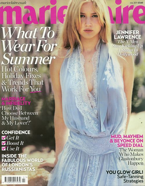 Дженнифер Лоуренс на обложках журналов