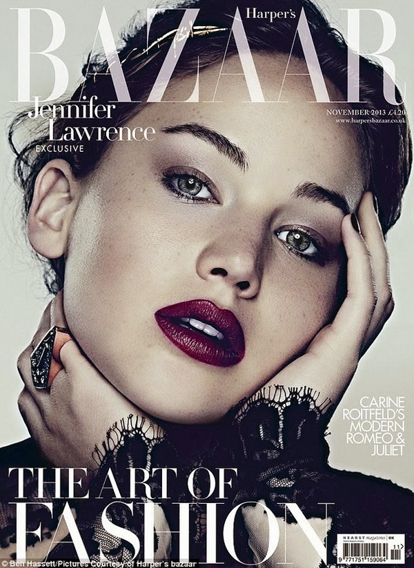Дженнифер Лоуренс для Harper's Bazaar UK, ноябрь 2013