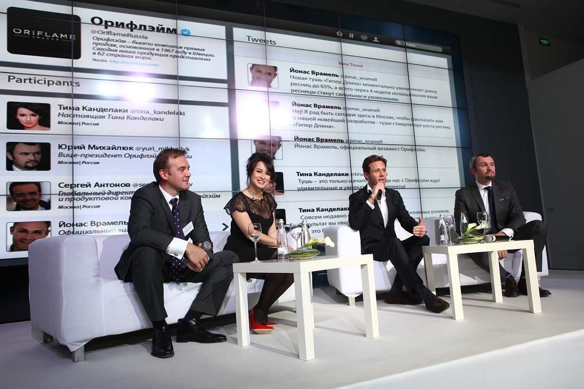 Тина Канделаки в рекламной кампании Oriflame
