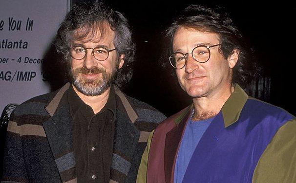 Стивен Спилберг и Робин Уильямс, 1991 год