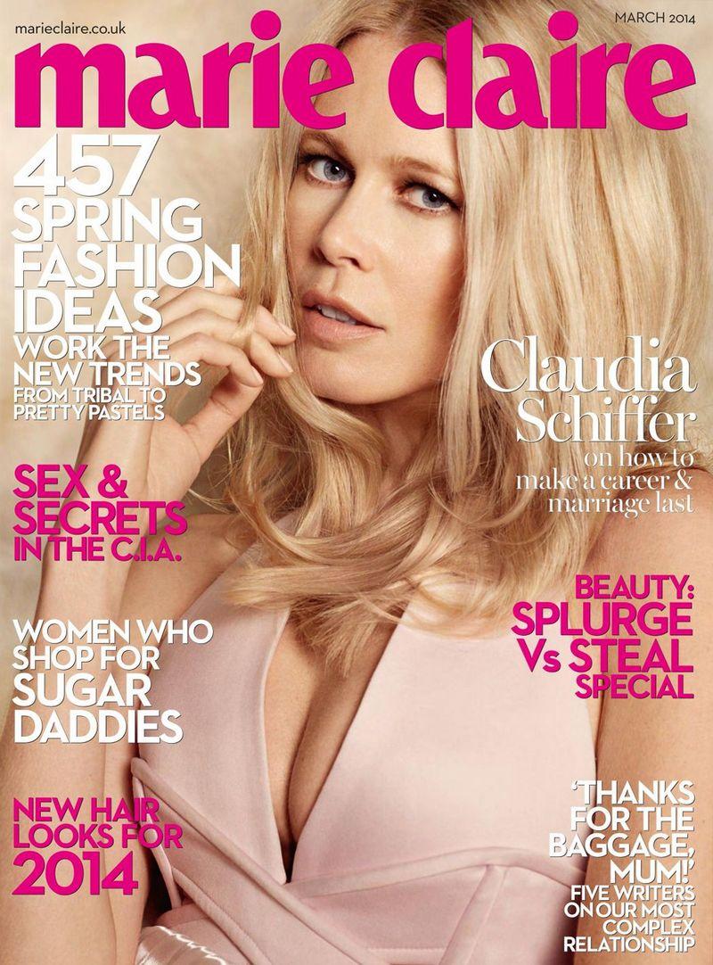 Клаудиа Шиффер для Marie Claire UK, март 2014