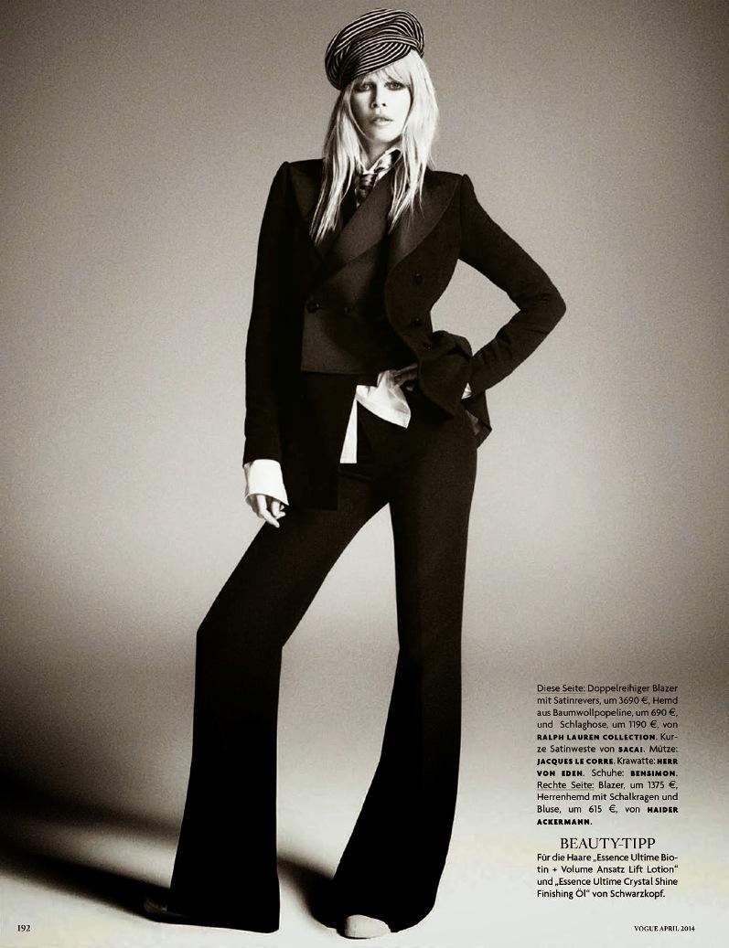 Клаудиа Шиффер для Vogue Germany, апрель 2014
