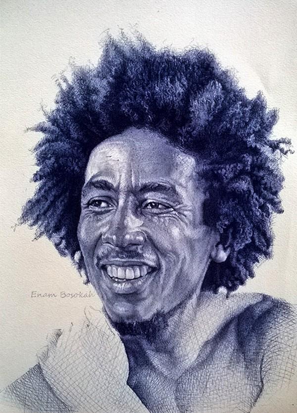 Знаменитости на рисунках Энама Босока