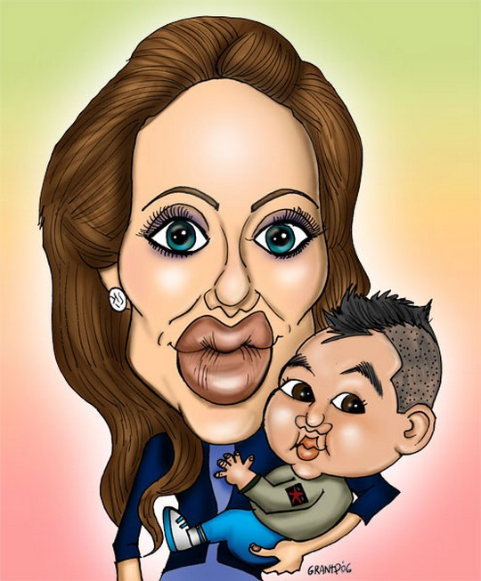 Карикатуры на Анджелину Джоли