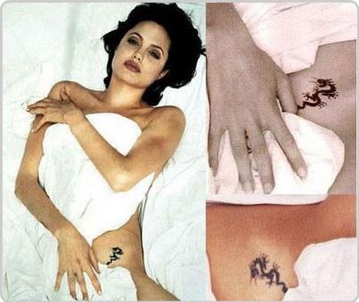 Татуировки Анджелины Джоли