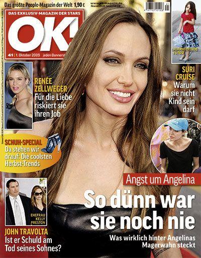 Анджелина Джоли на обложках журналов