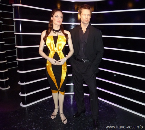 Восковые Анджелина Джоли и Бред Питт в музех мадам Тюссо