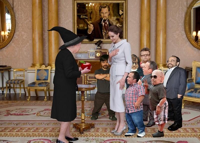 Елизавета II и Анджелина Джоли